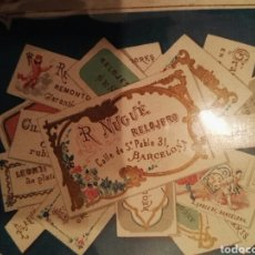 Postales: TARJETA RELOJES R.NUGUE ANTIGUA. Lote 75802970