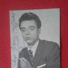 Postales: POSTAL POST CARD POSTCARD GONZALO GONZALEZ EN DISCOS PHILIPS. CANTANTE CON DEDICATORIA O SIMILAR VER. Lote 75859679