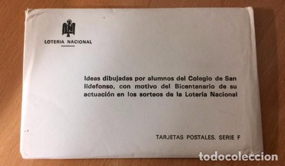 Postales: 12 postales loteria nacional por los niños del colegio de San Ildefonso.En su sobre original - Foto 2 - 76683655