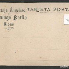 Postales: RIBAS -POSTAL PUBLICIDAD- GRANJA ANGELATS - DOMINGO BATLLO - VER REVERSO - (46.662). Lote 76906815