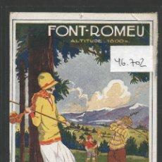 Postales: POSTAL ANTIGUA GOLF - VER REVERSO - (46.702). Lote 77923333
