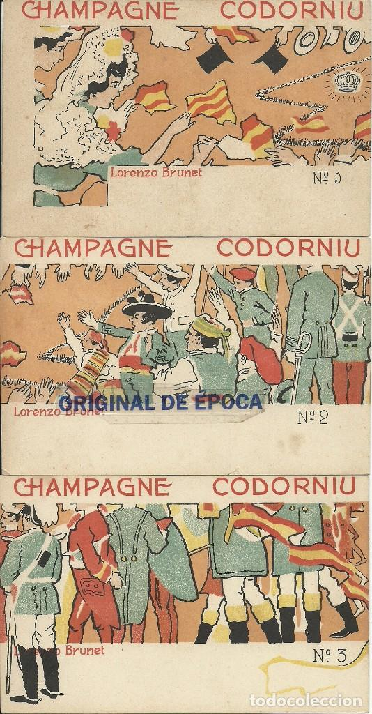 (PS-51330)SERIE COMPLETA DE 10 POSTALES PUBLICITARIAS DE CHAMPAGNE CODORNIU ILUSTRADAS POR BRUNET (Postales - Postales Temáticas - Publicitarias)