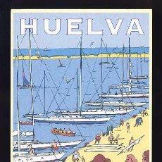 Postales: POSTAL PUBLICITARIA DE HUELVA: PUERTOS DEPORTIVOS (ED.PATRONATO DE TURISMO). Lote 78388377