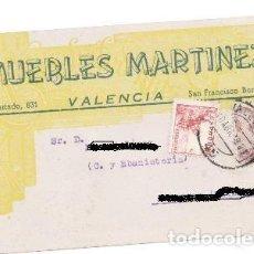 Postales: POSTA PUBLICITARIA, MUEBLES MARTÍNEZ, VALENCIA. Lote 79613273