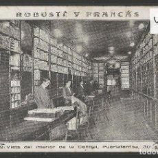 Postales: POSTAL PUBLICITARIA-TIENDA TELAS - ROBUSTE Y FRANCAS - BARCELONA -VER REVERSO -(46.920). Lote 80005925