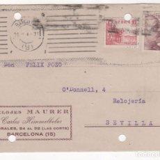Postales: TARJETA POSTAL PUBLICITARIA RELOJES MAURER : CARLOS HIMMELHEBER . BARCELONA 1948. Lote 80963368