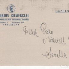 Postales: TARJETA POSTAL PUBLICITARIA EMPORIÓN COMERCIAL TALLER DEL FOTÓGRAFO ESPAÑOL . BARCELONA 1946. Lote 81612680