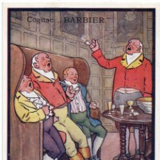 Postales: PS7513 POSTAL PUBLICITARIA DE COGNAC BARBIER. ILUSTRADA POR E. STRELLET. PRINC. S. XX. Lote 82291648