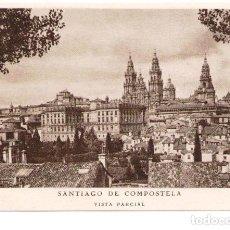 Postales: POSTAL PUBLICITARIA LABORATORIOS BESCANSA. IMAGEN DE SANTIAGO DE COMPOSTELA. Lote 83706252
