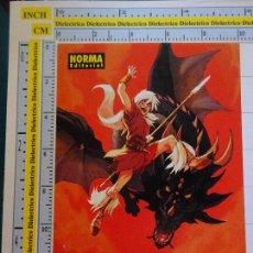Postales: POSTAL MARCAPÁGINAS DE NORMA EDITORIAL. TURO. DRAGÓN. COMIC COMICS. 1975. Lote 86103219