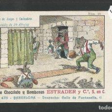 Postales: POSTAL PUBLICITARIA CHOCOLATES Y BOMBONES ESTRADER -BARCELONA -PARODIA JUEGOS Y COSTUMBRES- (47.136). Lote 84257656