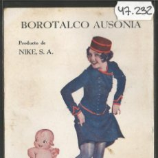 Postales: POSTAL PUBLICITARIA BOROTALCO AUSONIA - FARMACIA -NIKE S.A- NANCY CARROLL-PARAMOUNT - (47.232). Lote 84258136