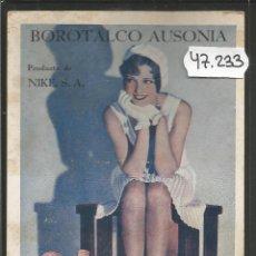Postales: POSTAL PUBLICITARIA BOROTALCO AUSONIA - FARMACIA -NIKE S.A- DIXIE LEE - FOX - (47.233). Lote 84258212