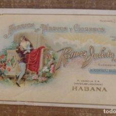 Postales: POSTAL PUBLICITARIA -FABRICA TABACOS Y CIGARROS -ROMEO Y JULIETA. Lote 85495448