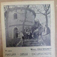 Postales: MUSEU CAU-BRUNET - TIANA - 1918. Lote 93022227