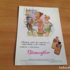 Postales: ANTIGUA POSTAL PUBLICIDAD JABON Y COLONIA BLANCAFLOR. Lote 86137292