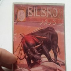 Postales: BILBAO 1913, POSTAL CARTEL TAURINO.. Lote 86336183