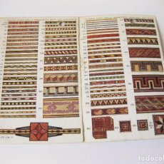 Postales: DOBLE POSTAL PUBLICITARIA CON EL MUESTRARIO DE MARQUETERIA PARA MUEBLES - BARCELONA. Lote 89114212