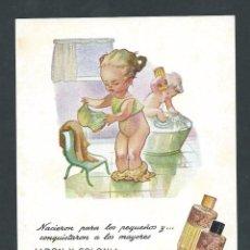 Postales: POSTAL JABON Y COLONIA BLANCAFLOR SIN CIRCULAR! CATALOGO BLAVI . Lote 89577992
