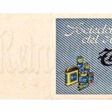 Postales: POSTAL DE FELICITACIÓN. FELICIDADES PUBLICIDAD SOCIEDAD ESPAÑOLA DEL ACUMULADOR PILAS TUDOR. AÑOS 40. Lote 90634205