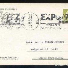 Postales: *ESCUELA DE CONDUCCIÓN. BARCELONA* CIRCULADA 1989.. Lote 91280070