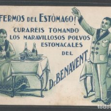 Postales: POLVOS ESTOMACALES - DR.BENAVENT - P21916. Lote 91552475