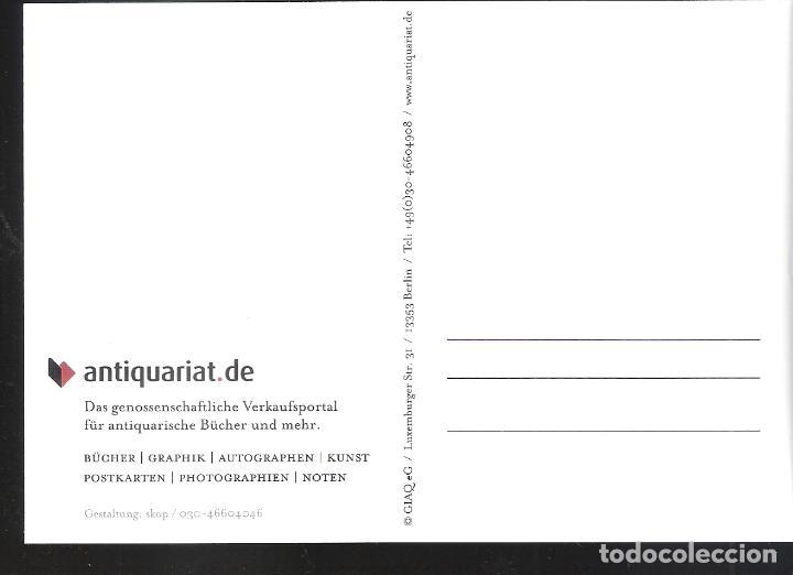 Postales: BücherWissen. Antiquariat.de. Tarjeta postal alemana. Partes de un libro. - Foto 2 - 92262975