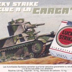 Postais: POSTAL PUBLICITARIA LUCKY STRIKE (2006). TABACO. CIGARRILLOS. CARRO DE COMBATE. TANQUE. Lote 93626115