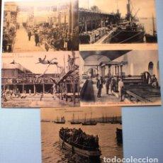 Postales: 5 REPRODUCCIONES DE POSTALES DE ESPAÑA. PUBLICIDAD LUNWERG EDITORES. Lote 94543967