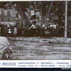 Postales: POSTAL DE MALAGA PUBLICITARIA=BAR RECIO C/.ALAMEDA Nº 14=CIRCULADA Y FRANQUEADA 1951-CURIOSA .. Lote 94925339