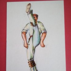 Postales: POSTAL PUBLICITARIA - BAILANDO EL ZORTZIKO - LIBRERIA DE SAN SEBASTIAN. Lote 95099803
