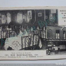 Postales: RESTAURANTE BARCELONA EN PARÍS. RUE MONTMARTRE 121. Lote 96325083