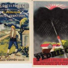 Postales: 2 POSTALES PUBLICITARIAS COHETES ESPINOS DE REUS -- NUEVAS--. Lote 97005963