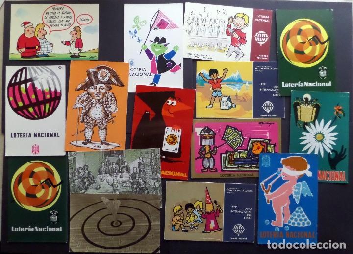 COLECCIÓN DE 15 POSTALES DE LOTERÍA NACIONAL (Postales - Postales Temáticas - Publicitarias)