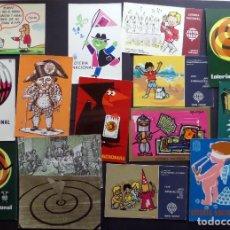Postales: COLECCIÓN DE 15 POSTALES DE LOTERÍA NACIONAL. Lote 97242255