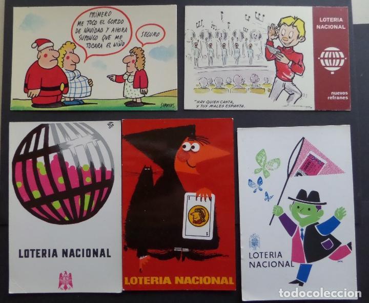 Postales: Colección de 15 postales de Lotería Nacional - Foto 2 - 97242255