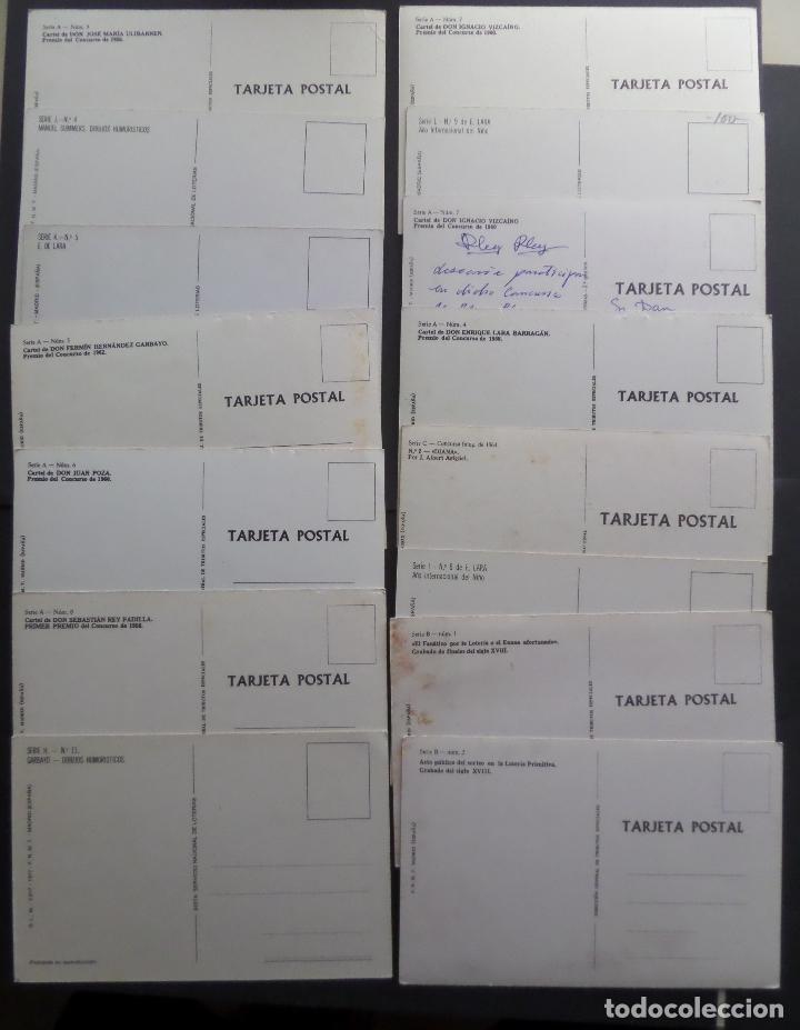 Postales: Colección de 15 postales de Lotería Nacional - Foto 5 - 97242255