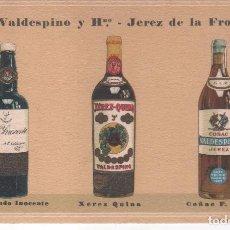 Postales: PUBLICIDAD VINOS Y COÑAC A.R. VALDESPINO . JEREZ DE LA FRONTERA ( CÁDIZ ).NADA EN REVERSO . Lote 97922503