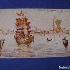 Postales: POSTAL DE CHOCOLAT D'AIGUEBELLE. SERIE DE LAS CIUDADES. VENECIA. SIN CIRCULAR.. Lote 97965691