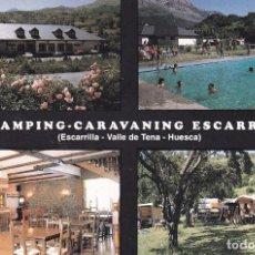 Postales: POSTAL PUBLICITARIA CAMPING - CARAVANING ESCARRA. ESCARRILLA. VALLE DE TENA. HUESCA. Lote 98008779
