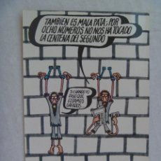 Postales: POSTAL PUBLICITARIA LOTERIA NACIONAL DIBUJO HUMORISTICO DE FORGES . 1974. Lote 99804339