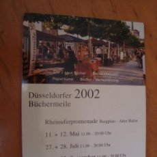 Postales: POSTAL DUSSELDORF FERIA DEL PAPEL 2002. Lote 100239636