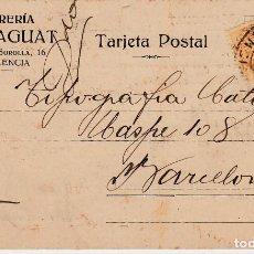 Postales: TARJETA POSTAL COMERCIAL DE LIBRERIA MARAGUAT EN VALENCIA -1921-. Lote 100533379