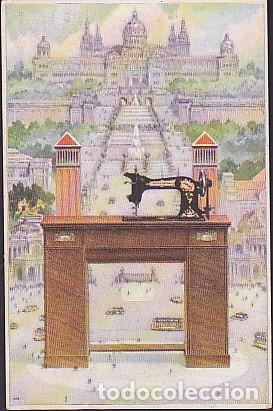 POSTAL PUBLICITARIA MAQUINAS DE COSER Y BORDAR WERTHEIM (Postales - Postales Temáticas - Publicitarias)