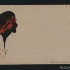 Postales: POSTÁL MODERNISTA PUBLICITARIA.PERFUMES NATURALES HAUPOLD.PUERTO DE SANTA MARIA.REVERSO SIN DIVIDIR.. Lote 101312507