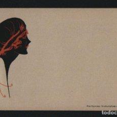Postales: POSTÁL MODERNISTA PUBLICITARIA.PERFUMES NATURALES HAUPOLD.PUERTO DE SANTA MARIA.REVERSO SIN DIVIDIR.. Lote 101312547