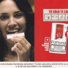 Postales: POSTAL PUBLICITARIA FORTUNA. TABACO. CIGARRILLOS. Lote 101712835