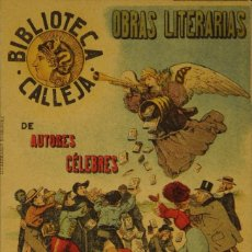 Postales: BIBLIOTECA CALLEJA - CIRCULADA Y DORSO SIN DIVIDIR. Lote 103265755