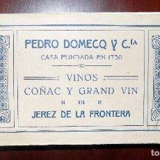 Postales: LIBRO DE POSTALES. PEDRO DOMECQ Y CIA. JEREZ DE LA FRONTERA. VINOS, COÑAC Y GRAND VIN. 30 POSTALES. Lote 103286935