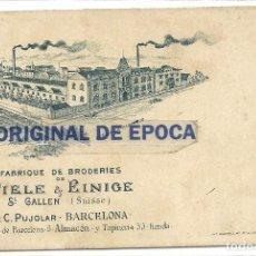 Postales: (PS-53655)POSTAL PUBLICITARIA TIRAS BORDADAS C.PUJOLAR - BARCELONA. Lote 103511207